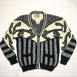 Novo Promark 80s Cardigan Sweater Mohair Blend
